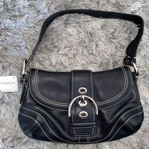 Vintage Coach Soho Small Flap in Black